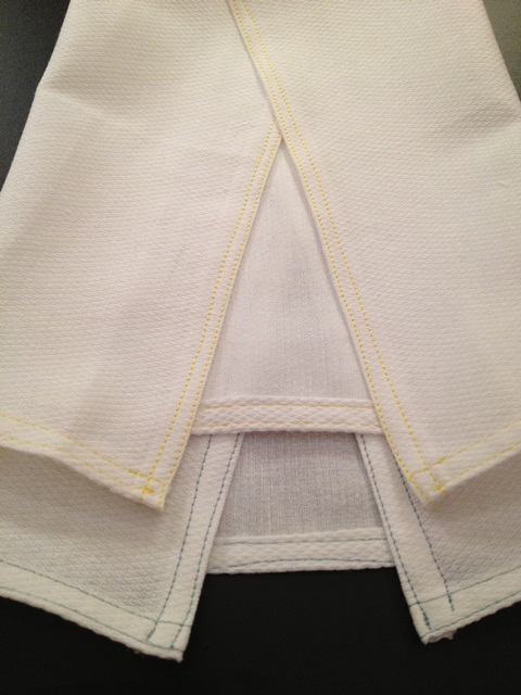 UnPaper Towels - two done with seamed edge