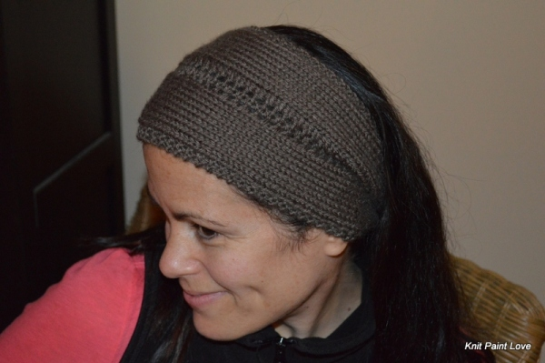 Danielle sporting her new headband