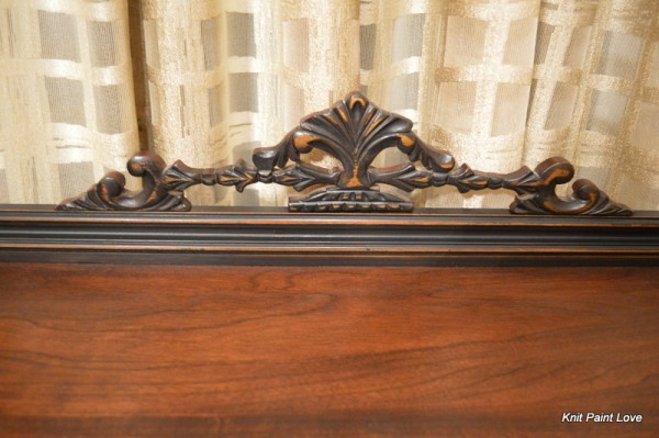 My favorite part of the piece is this decorative trim.