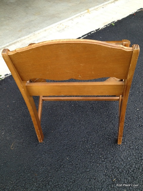 I loved the scale of this little chair and the low back.