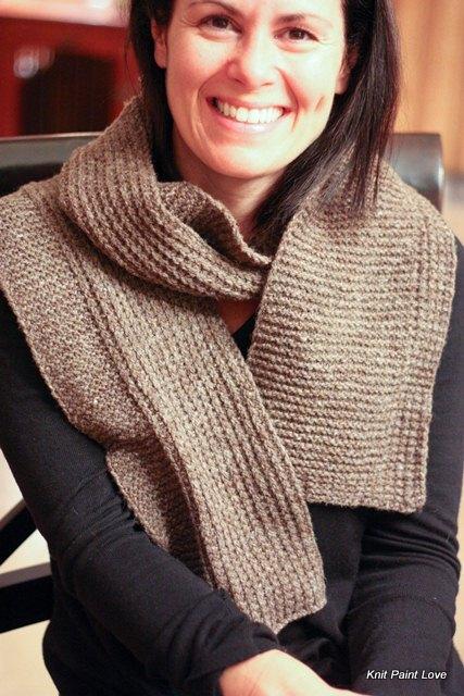 I knit it long enough to wrap around a few times
