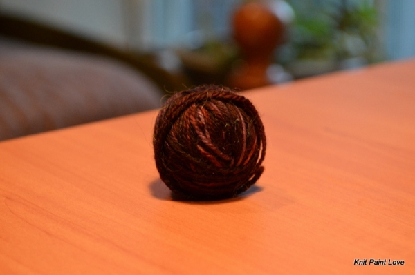 Left over sock weight yarn